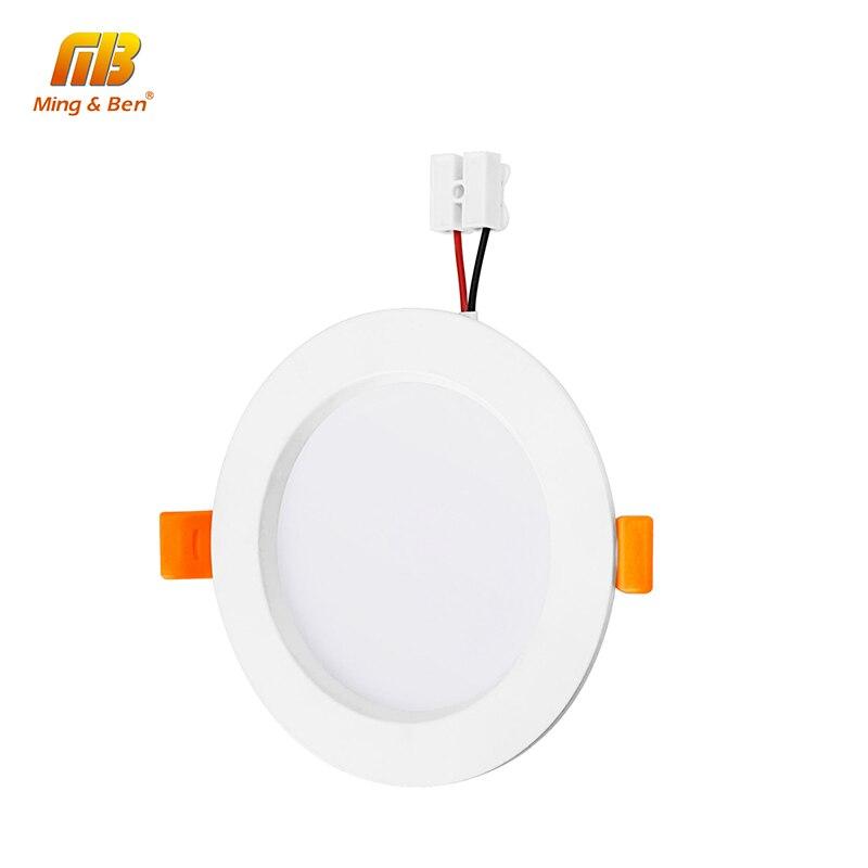 [MingBen] LED Downlight Panel Aluminum Ceiling Light 3W 5W 7W 9W 12W 15W 18W 220V Downlight Warm White Cold White Lamp For Foyer