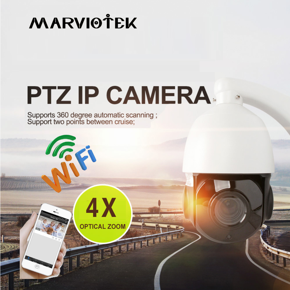 все цены на 960P PTZ Speed Dome IP Camera Wireless Outdoor CCTV Camera WIFI 4X Zoom Video Network IP PTZ Cameras POE alarm 32G card optional онлайн