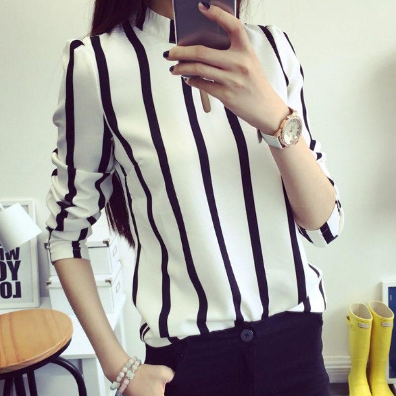 7e9357f4a024 Casual office women blouse Striped Chiffon Blouse Women Tops Short Sleeve  Shirt Women Ladies Office Blouses-in Blouses & Shirts from Women's Clothing  on ...
