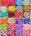BacklakeGirls Pétalos de Rosa 2017 Venta De Seda Romántico Para La Boda Decoraciones Artificiales Poliéster Confeti 2000 Unids/lote Pétalo de la Flor