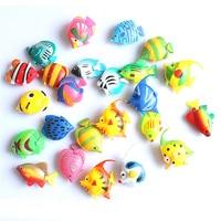 1Pcs Colorful Plastic Artificial Fishes Decorations for Aquarium supplies Fish Tank Swing Tropical Fish