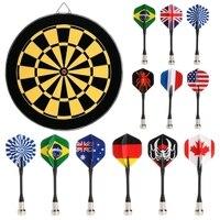 Juego de Diana Bullseye, bandera nacional de seguridad para niños, supersucción de dardos magnéticos 6 uds.