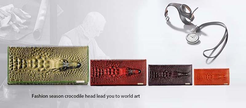 Long croodile head women wallet800