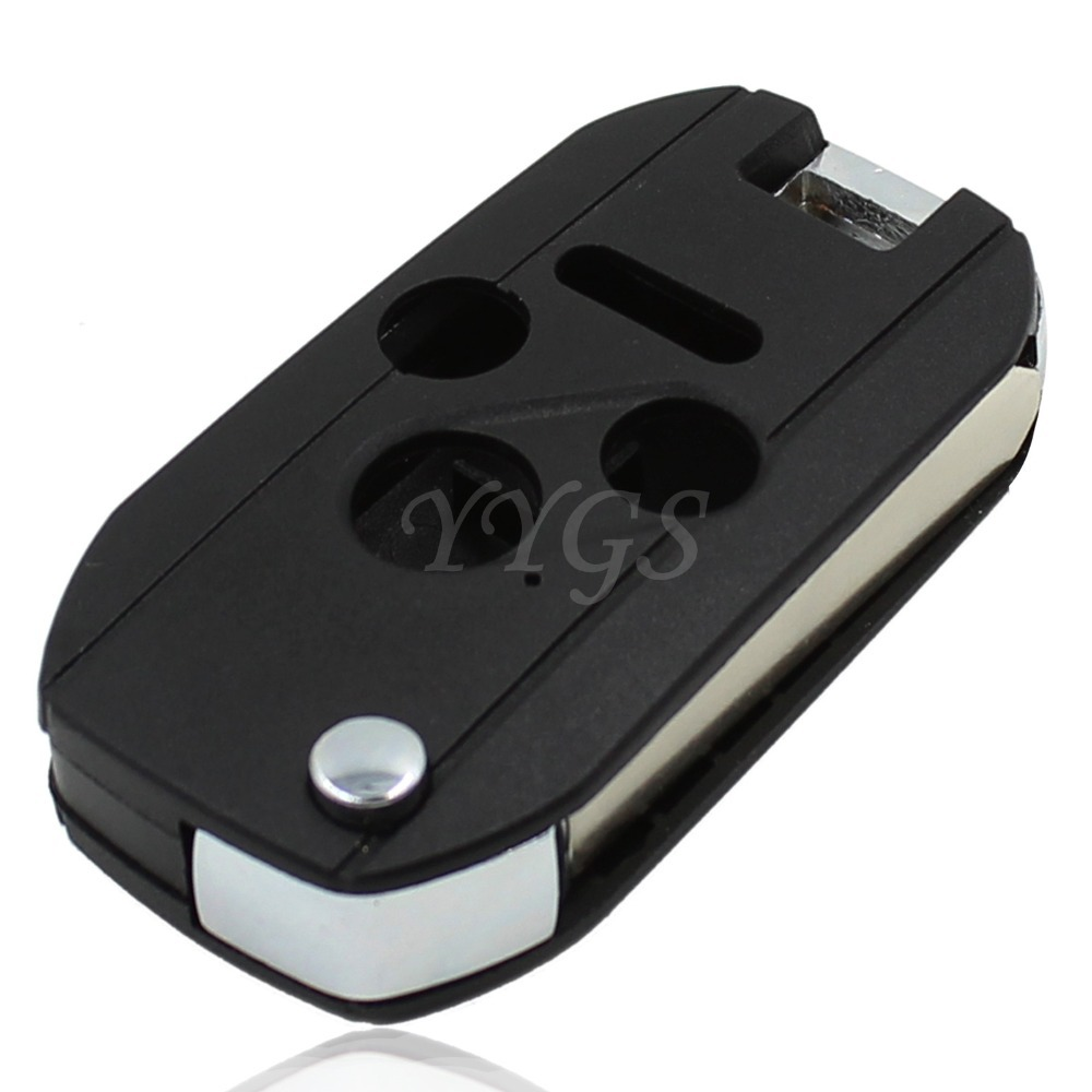 New 3 Button + Panic Folding Remote Key Case Shell Fob Fit For Honda Accord For Civic CR-V Pilot Repair 4 Buttons