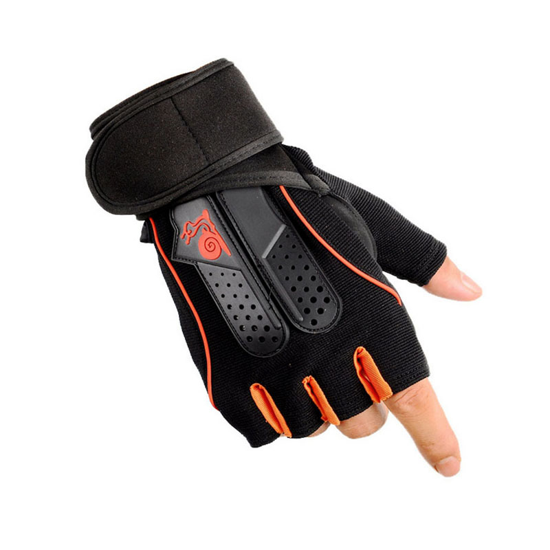 Fitness Cycling Gloves Half Finger Men Women Breathable wrist support Gym Dumbbell Weightlifting Gloves Sport Training Gloves xinluying body building fitness gloves half finger women men wearable weightlifting gloves gym training bike cycling pink xs s