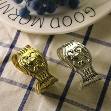 10PCS napkin buckle stainless steel gold / silver ring Creative mouth cloth hotel wedding table jewelry ornaments