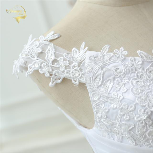 Beach Wedding Dress Casamento A line Cap Sleeves Robe De Mariage Vintage Boho Lace Wedding Dresses OW 7800
