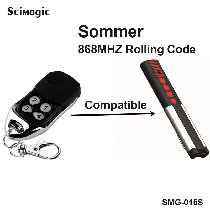 2 channel Sommer 4026V000 remote control rolling code frequency 868 Mhz 3pcs ...