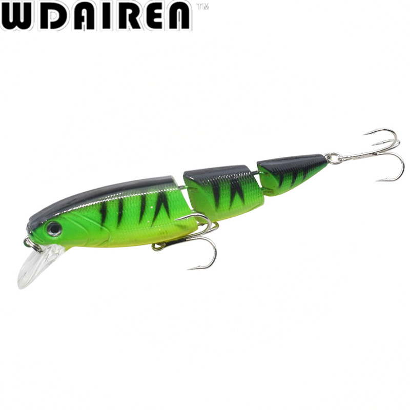 1Pcs 10.5cm 15g Swimbait Crank 3 Sections Hard Bait Slow 5Colors Fishing Wobbler Isca Artificial Lures Fishing Tackle WD-179