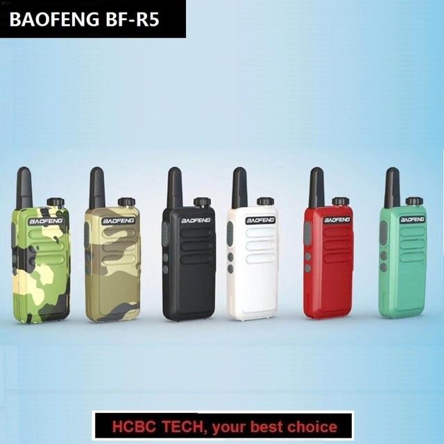 2PCS Baofeng BF-R5 Mini Kids Walkie Talkie UHF 2W Ham Radio Amateur Portable PTT Hf Transceiver Telsiz Wln KD-C1 BF-T1 Woki Toki