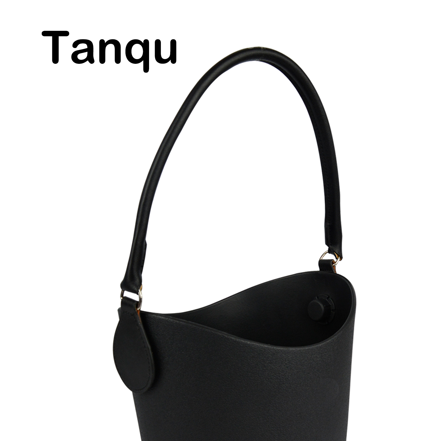 TANQU 1 Piece Concise Round Leather Handle With D Buckle Drops For Classic Mini Obag Basket Bucket City Chic Women Handbag O Bag