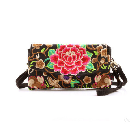 New Fashion embroidery Multi Shopping Handbags!Hot Floral embroidery All-match small mobile&phone&key Carrier Top Versatile bags