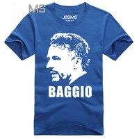 Hommes À Manches Courtes T-Shirt Original Nouveau Style 100% Coton Futball T-shirt Italie Roberto Baggio Impression T-shirt 3D Homme A1438