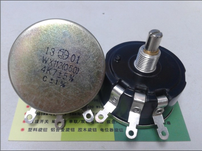 Wx112 050 5 w única volta em torno do interruptor do potenciômetro 4.7 k wx112 050