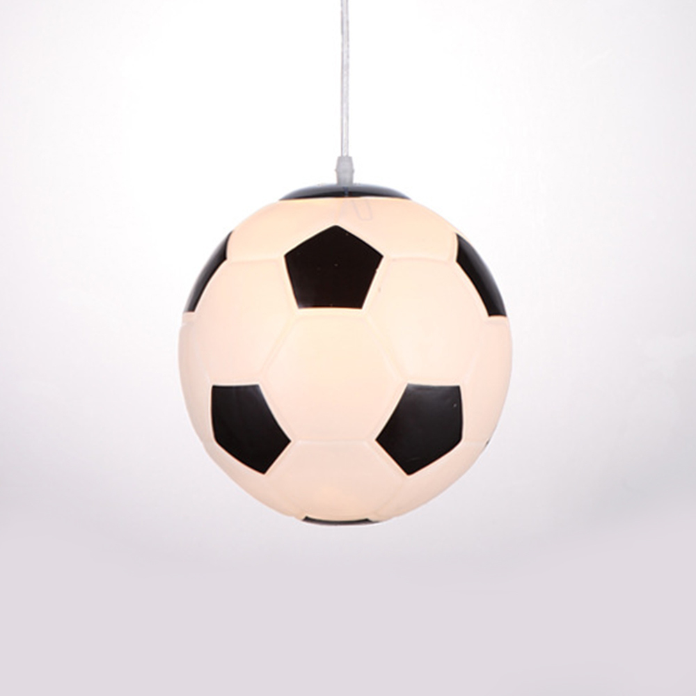 Image 3 - Cartoon Soccer Basketball Pendant Lamp for Children Bedroom Room Decorative Corridor Aisle Home Lighting hanging lamp Fixtures-in Pendant Lights from Lights & Lighting