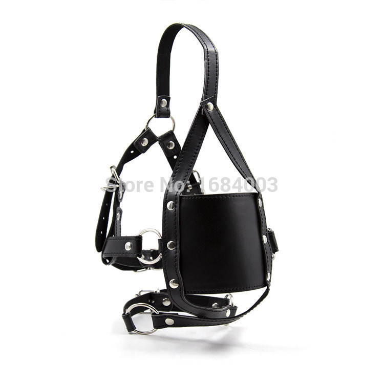 Black Pu Harness Open Mouth Gag Mouth Ball Gag Adult Fetish Mask Gags Sex Fetish Toys