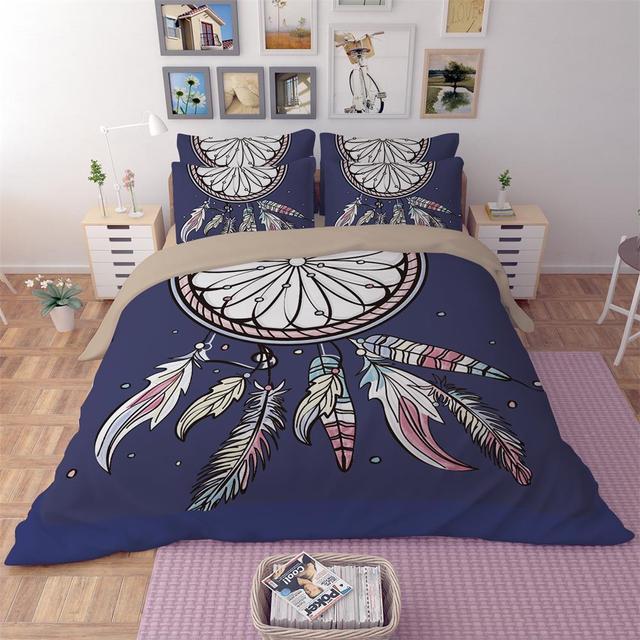 americain indiens dreamcatcher designs literie ensemble housse de couette avec taie d oreiller pour lits