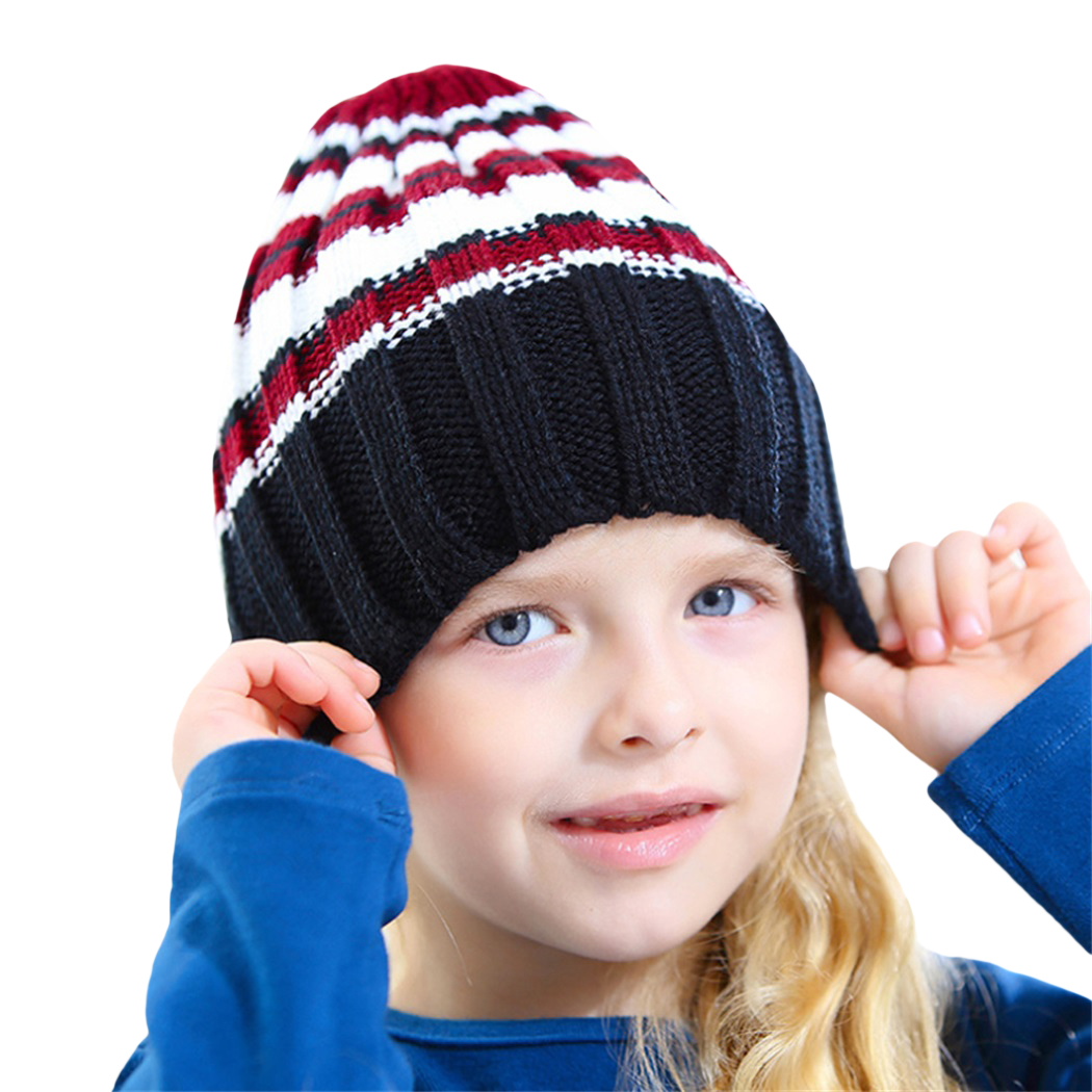 Letter Print Hip Hop Winter Hats For Boys Girls 2017 Wool Knit Kids Warm Caps Beanie Hats Gorro Children Skullies Bonnet Enfant Mother & Kids