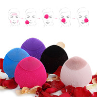Best Silica Gel Body Vibrating Massager Waterproof Charging Beauty Face Care Cleaner Cleaning Facial Massage Machine