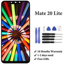 For Huawei Mate 20 Lite SNE-LX1 LCD Display 6.3'' 2340x1080 Black Panel SNE-LX3 SNE-LX2 SNE-L21 SNE-L23 SNE-L01 Touch Screen s lie sne