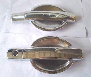חדש 1 סט (12 pcs) כרום ידית דלת כיסוי trim וכרום דלת ידית כוס BowlFor ניסן הקאשקאי 2007-2011