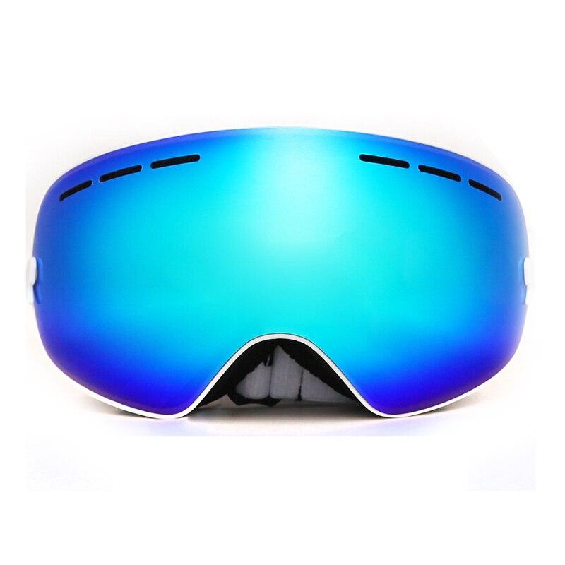 Новая распродажа Benice лыжные очки двойной слой анти-туман Глаза белой раме