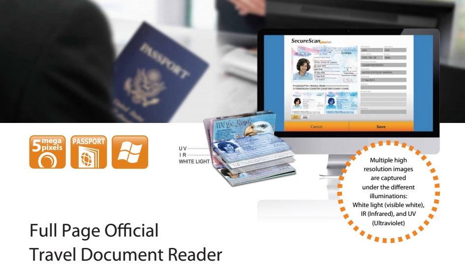 US $680 0 |Kiosk ID Card Reader OCR Passport Reader MRZ Passport Scanner  Hotel front desk scan Drivers License Scanner Visible+IR+UV -in Scanners  from