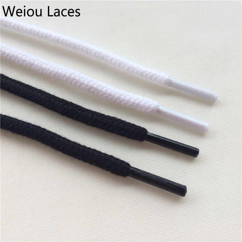 Weiou Moda Siyah ve Beyaz Yuvarlak Pamuk Ayakabı 0.6 cm Renkli Trainer Elbise Ayakkabı Bağcıkları Sneakers Yürüyüş günlük çizmeler