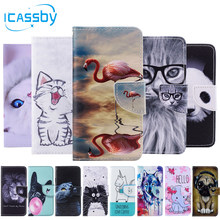 SFor Coque iPhone 6 S funda Linda Panda gato flamenco cuero Flip Wallet fundas de teléfono para iPhone 6 funda para iPhone 6 iPhone 6 S estuche tapa(China)