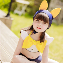 2017 Promotion New Floral Children Swimming Suit Kids Swimwear For Girls Swimsuit Baby Korean Cute Body Bikini Bathing Fcsw160