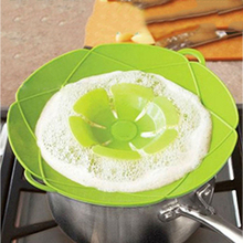 Pot Lid Double Handle Movable Cover Silica Gel Environmental Protection Anti-Overflow Cooling Steam Kitchen Tool