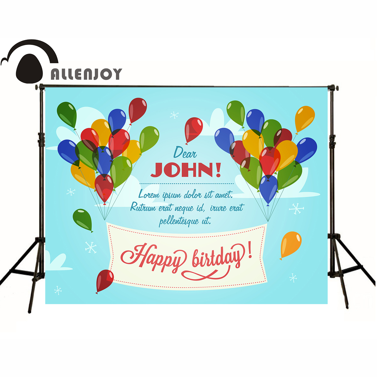 AllEnjoy photography background Birthday Balloons blue sky newborn photocall flags Professional photographic backdrop studio
