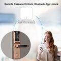 Eseye умный дверной замок биометрический замок отпечатков пальцев цифровой дверной замок электронный замок пульт дистанционного управления ...