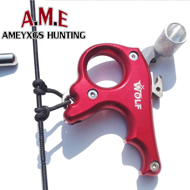 2 Color High Stainless Steel Archery Caliper Bow Release For Compound Bow 3 Fingers Trigger Suitable For Right Left Hand Hunting allen company exacta xx archery buckle release