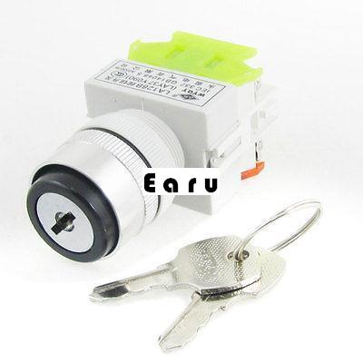 Factory Supplied Selector Key Switch Security Lock Keyed Power Ignition 1 NO 1 NC 10A 660V AC master lock m5xd magnum keyed padlock