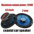 2 vías 2x120 W 6.5 pulgadas estéreo del coche cuerno de moda de Buena calidad altavoces de diseño para todos los coches de altavoces del automóvil coaxial de audio del coche Auténtico
