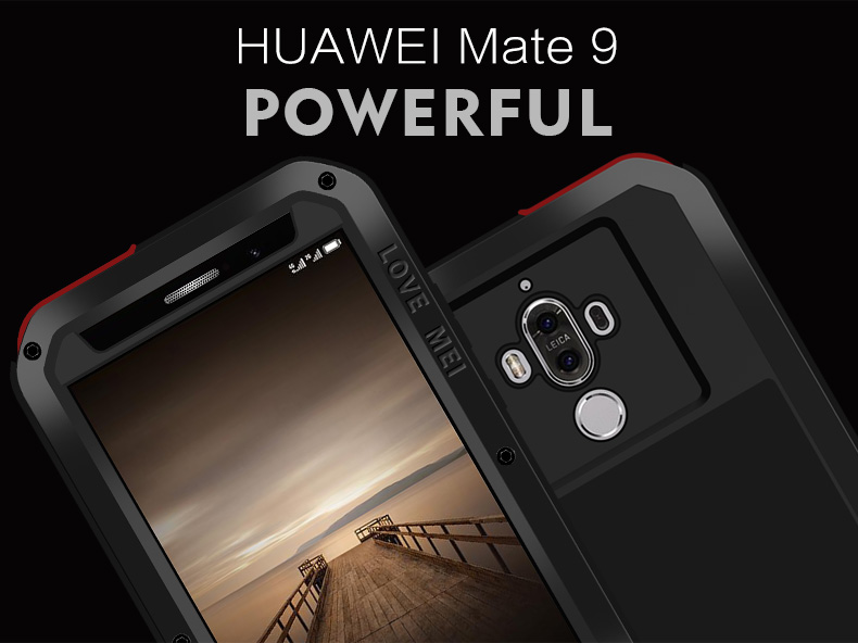 Image 3 - For Huawei Mate 9/Mate 9 Pro Case LOVE MEI Shock Dirt Proof Water  Resistant Metal Armor Cover Phone Case for Huawei Mate 9 Prophone  casescase for huaweicase for