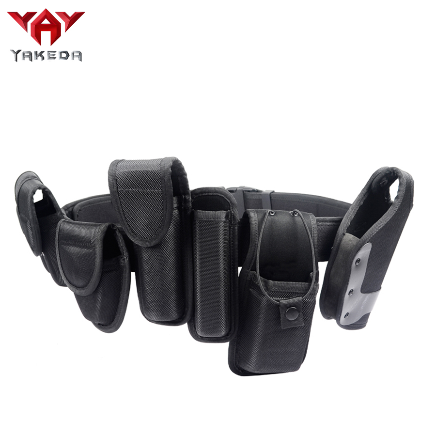 US $34 38 20% OFF|Black Military Duty Tactical Combat Belt Safety Police  Belt With Waist Pouch-in Training Bags from Sports & Entertainment on