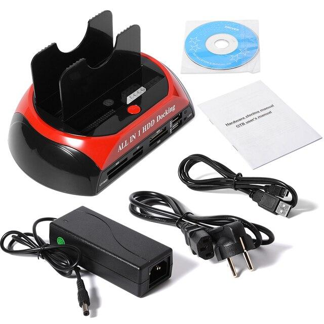 "USB 2.0 a 2.5 ""3.5"" IDE de Disco Duro SATA HDD Convertidor Card Reader Docking AC352"
