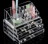 15*19*24CM Acrylic Makeup tool Organizer Storage bag Box Case Cosmetic Jewelry Container Boxes Rangement Maquill