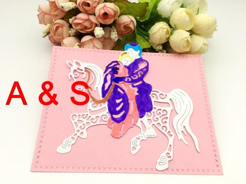 K31 METAL CUTTING DIES Princess Prince Love Horse Fairy Tale Scrapbook Card Album Paper Craft Home Decor Embossing Stencil