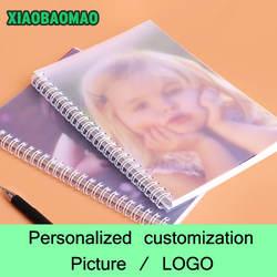 Пользовательские катушки ноутбук блокнот спираль персонализированные индивидуальные фото/логотип
