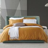 Египетского хлопка постельных принадлежностей королева король размер сплошной цвет простыней 12 видов цветов доступны постельный комплект