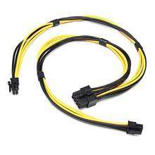 لماك برو بطاقة الفيديو بطاقة جرافيكس 18AWG المزدوج ميني 6 دبوس إلى 8 دبوس ذكر PCI-E سلك الطاقة تمديد كابل التعدين التعدين سلك