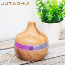 JTH-027 300ml Electric Humidifier Aroma Oil Diffuser Ultrasonic Wood Grain Air USB Mini Mist Maker LED Light for home