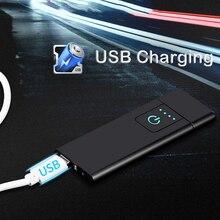 ชาร์จไฟ USB ไฟแช็กบุหรี่พกพาอุปกรณ์เสริมรถ Windproof Multicolor ไฟแช็ค ULTRA บาง