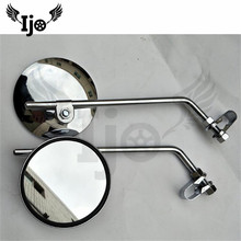 round 10MM 8MM motorcycle rearview mirror for harley suzuki yamaha Ducati side mirror unviersal moto mirrors scooter accessories