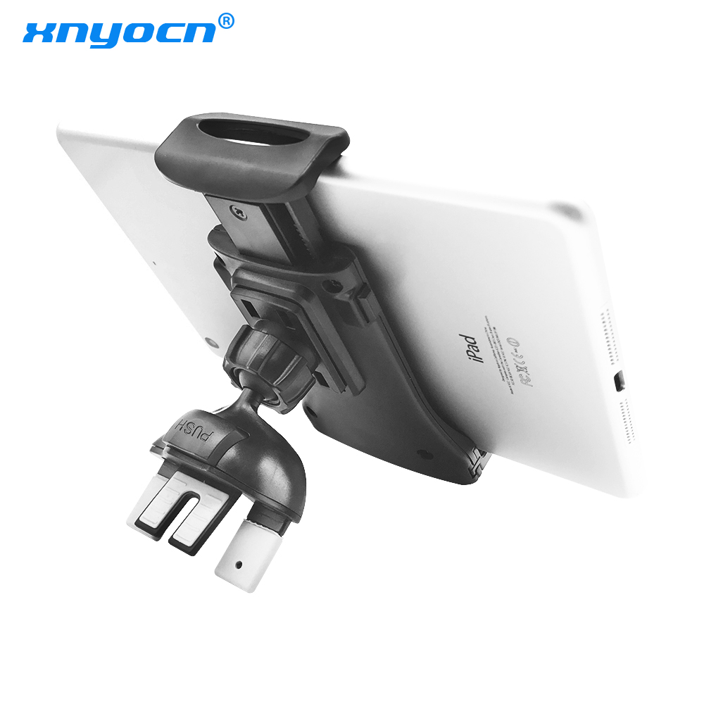 360 Rotation Universal CD Slot And Air Vent Both Can Use Car Tablet Mount Holder For 7 8 9 10 Inch Ipad For Iphone5s 6S 7 Xiaomi