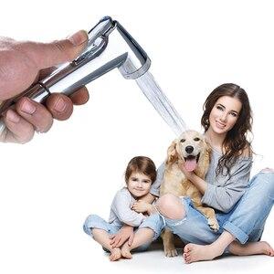 Image 5 - LED ışık şelale yağmur biçimli duş paneli banyo duş musluk sütun sistemi 3 kolları 6 fonksiyonlu duş bataryası bide püskürtücü ile