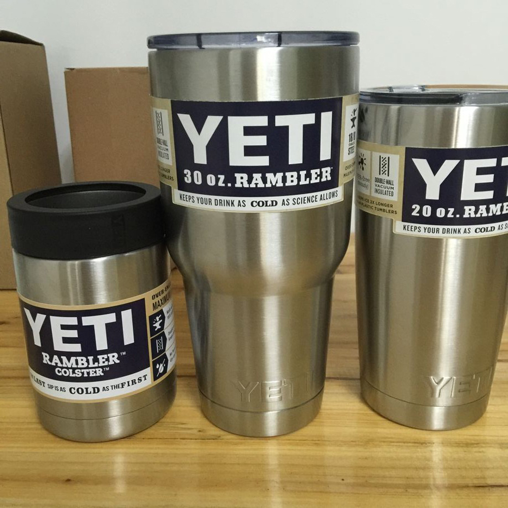 Stainless Steel 12oz/20oz/30oz <font><b>Yeti</b></font> <font><b>Cups</b></font> <font><b>Cooler</b></font> <font><b>YETI</b></font> <font><b>Rambler</b></font> <font><b>Tumbler</b></font> <font><b>Cup</b></font> Vehicle Beer Mug Double Wall Bilayer Vacuum Insulated
